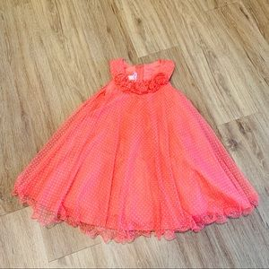 Jessica Ann Size 4T dress Coral and white